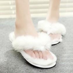 Women's Shoes Nz  Flat Heel Comfort / Round Toe Slippers Casual Black / Purple / Beige Slippers & Flip-Flops