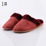 ROAD SWIFT®Women's Casual Shoes Nz, Fleece/Flat Heel, Slippers / Round Toe / Closed Toe Slippers Shoes Nz, Brown / Red Slippers & Flip-Flops