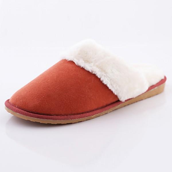 ROAD SWIFT®Women's Casual Shoes Nz, Fleece/Bamboo Fiber, Flat Heel Slippers / Round Toe / Closed Toe Slippers Shoes Nz Slippers & Flip-Flops