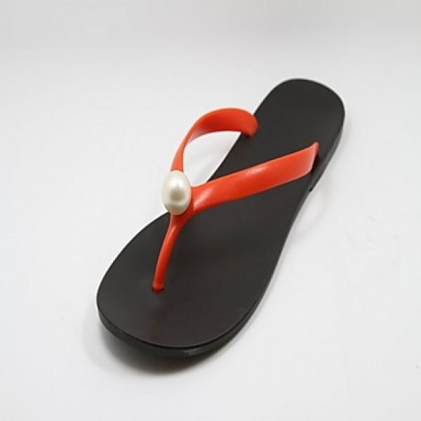 Women's Shoes Nz Rubber Flat Heel Flip Flops Slippers Casual Black/Blue/Pink/Orange Slippers & Flip-Flops