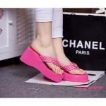 Women's Shoes Nz PVC Flat Heel Flip Flops Slippers Outdoor Black / Blue / Red / Tan Slippers & Flip-Flops