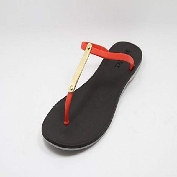 Women's Shoes Nz Rubber Flat Heel Flip Flops Sandals Casual Black/Blue/Green/Pink/Red Slippers & Flip-Flops