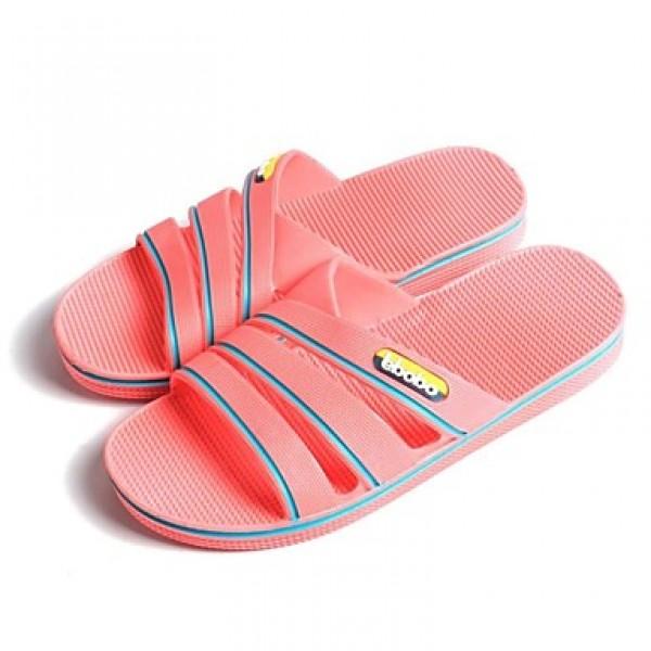 Women's Shoes Nz PVC Flat Heel Comfort Open Toe Slippers Casual Blue/Pink Slippers & Flip-Flops