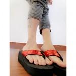Women's Shoes Nz PVC Flat Heel Flip Flops Slippers Outdoor Black / Yellow / Red / White Slippers & Flip-Flops