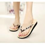 Women's Shoes Nz PVC Flat Heel Flip Flops Slippers Outdoor Blue / Brown Slippers & Flip-Flops
