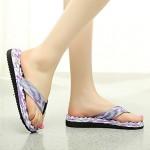 Women's Shoes Nz PVC Flat Heel Flip Flops Slippers Outdoor Pink / Purple Slippers & Flip-Flops
