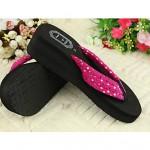 Women's Shoes Nz PVC Flat Heel Flip Flops Slippers Outdoor Black / Red Slippers & Flip-Flops
