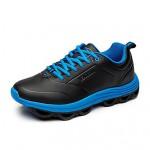 Men's Walking Shoes Nz Leatherette Black/Gray/Orange Athletic Shoes