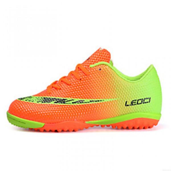 Women's/Men's Soccer Shoes Nz PVC Blue/Red/Orange Athletic Shoes