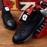Women's/Men's Running Shoes Nz Leatherette Black/White/Multi-color Athletic Shoes