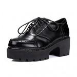 Women's Shoes Nz  Platform Heels/Platform/Comfort/Round Toe/Closed Toe Pumps/Heels Casual Black Oxfords