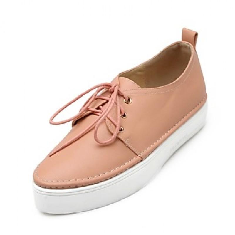 Women's Shoes Nz Platform Comfort/Pointed Toe Oxfords Dress/Casual Black /Pink/