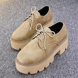 Leatherette Women's Flat Heel Comfort Oxfords Shoes Nz(More Colors) Oxfords