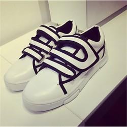 Women's Shoes Nz Flat Heel Comfort Fashion Sneakers Outdoor Black / White Sneakers