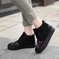 Women's Shoes Nz Flat Heel Round Toe Fashion Sneakers Casual Black/Blue/Green Sneakers
