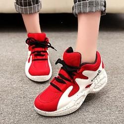 Women's Shoes Nz Synthetic Flat Heel Comfort Fashion Sneakers Casual Blue/Beige Sneakers
