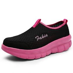 Women's Shoes Nz Flat Heel Comfort Fashion Sneakers Casual Black/Blue Sneakers