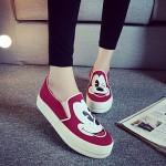Hot Sale Women Fashion Animal Prints Cute Sneakers Shoes Nz Summer Style Running Walking Canvas Black/Dark Blue/Burgundy Slip-Ons & Loafers