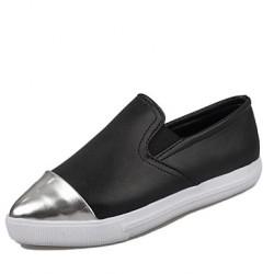 Women's Shoes Nz   Flat Heel Round Toe Loafers Casual Blue/Yellow/Green/Purple/Beige Slip-Ons & Loafers