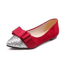 Babala Cream Patent Leather Bow Flat Shoes Nz Flats