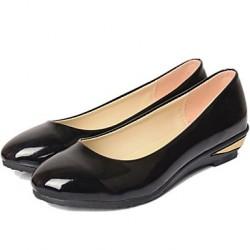 Women's Shoes Nz Flat Heel T-Strap Flats Casual Black/Beige Flats