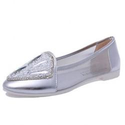 Women's Shoes Nz  Flat Heel Round Toe Flats Casual Black/Silver Flats