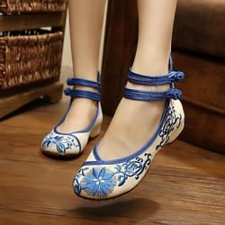 Women's Shoes Nz  Flat Heel Round Toe Flats Casual Black/Blue/Red/Beige Flats