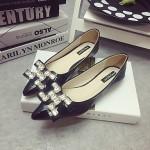 Women's Classic/Elegant Casual Shoes Nz Flat Heel Pointed Toe Flats Shoes Nz Black / Pink Flats