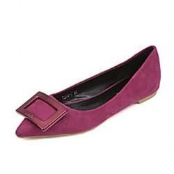 Women's Classic/Elegant Casual Shoes Nz Flat Heel Pointed Toe Flats Shoes Nz Black / Gray/ Red Flats