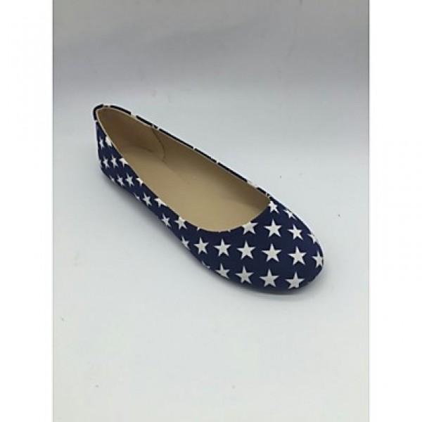 Women's Shoes Nz Cotton Flat Heel Ballerina Flats Office & Career / Dress / Casual Black / Burgundy Flats