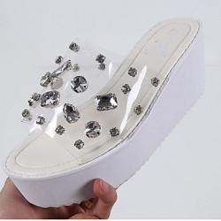 Women's Shoes Nz  Flat Heel Open Toe Sandals Casual Black/Silver Women's Sandals