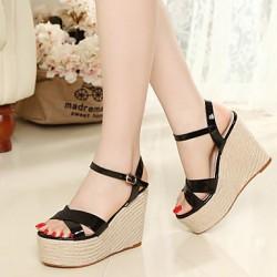 Women's Shoes Nz   Wedge Heel Open Toe Sandals Casual White Women's Sandals