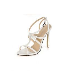 Patent Leather Women's Stiletto Heel Peep Toe Pumps/Heels with Gore  Women's Sandals
