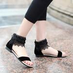 Women's Shoes Nz Flat Heel Comfort Sandals Office & Career/Dress Black/White Women's Sandals