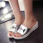 Women's Shoes Nz Faux Fur Wedge Heel Peep Toe/Open Toe Sandals Outdoor/Casual Black/White Women's Sandals
