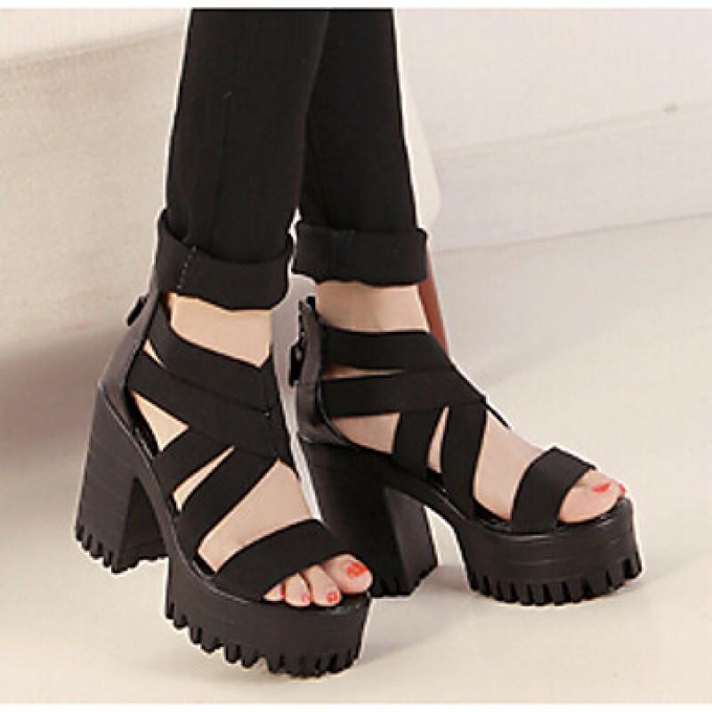 Women s Shoes Nz Chunky Heel Heels Platform Sandals Casual Black Women s  Sandals