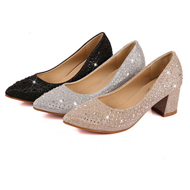 Narrow Dress Shoes Silver