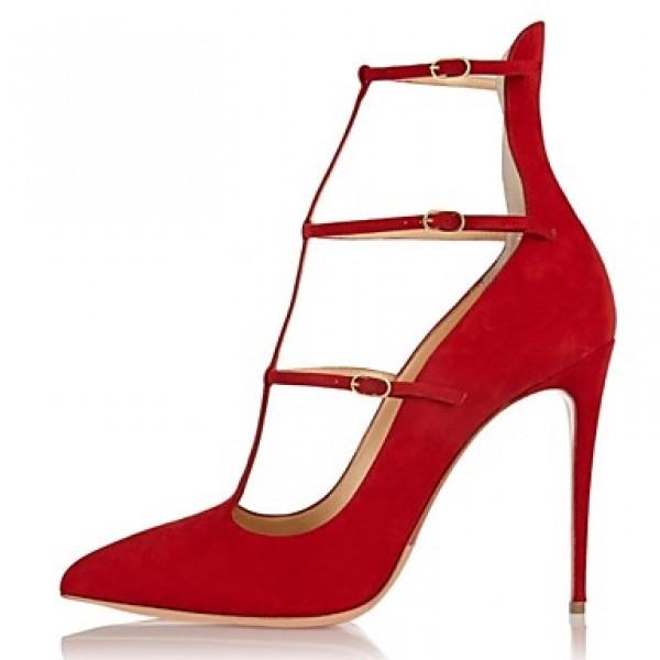 Women's Shoes Nz Fleece Stiletto Heel Heels / Gladiator / Pointed Toe Heels Wedding / Party & Evening Heels