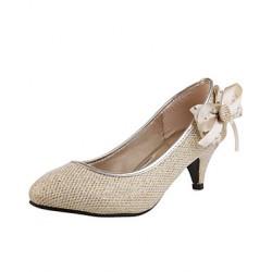 Women's Shoes Nz Leatherette Chunky Heel Heels Pumps/Heels Casual Silver/Gold Heels
